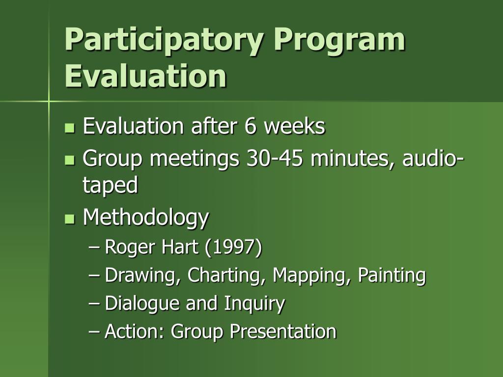 Participatory Program Evaluation