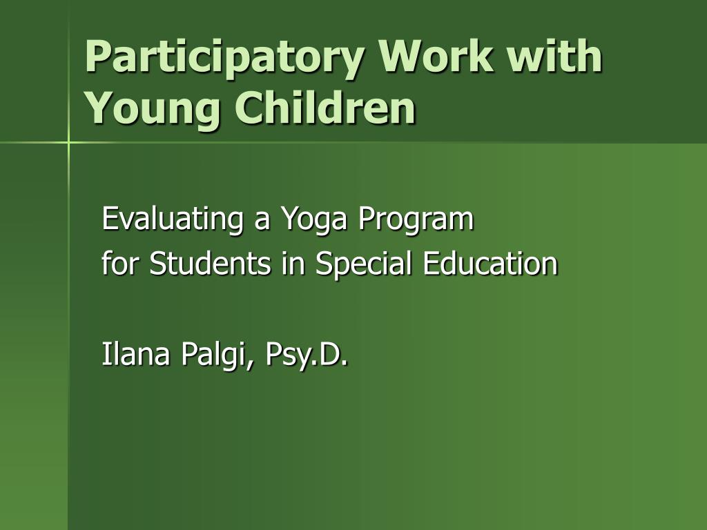 participatory work with young children l.