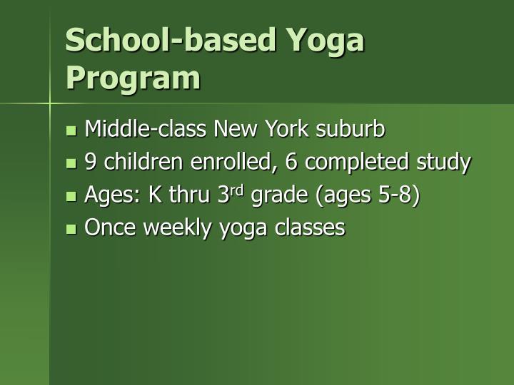 School based yoga program