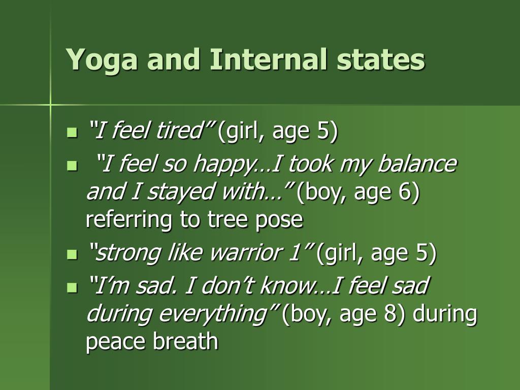 Yoga and Internal states