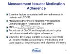 measurement issues medication adherence