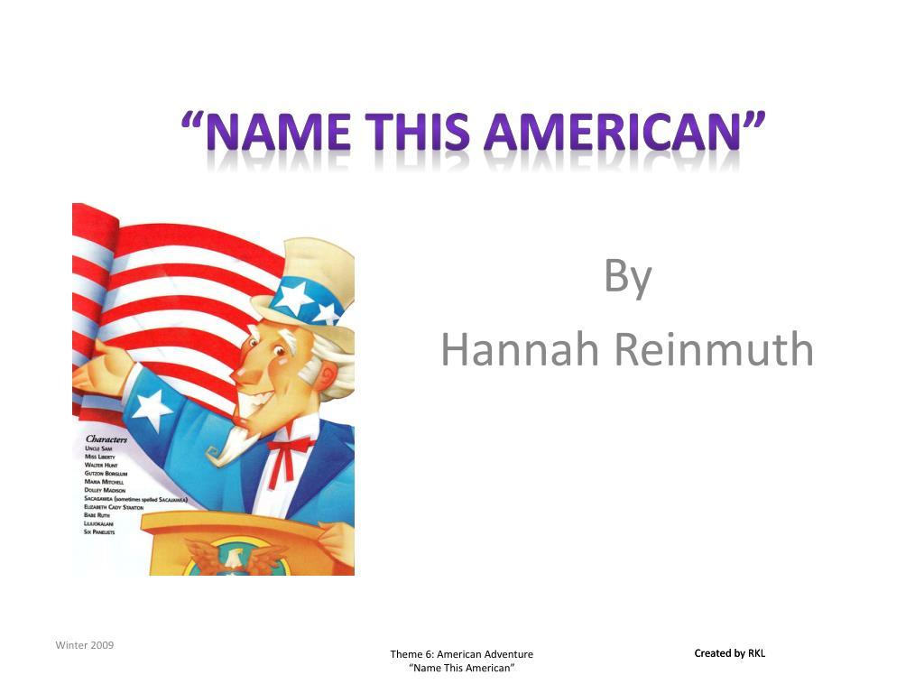 name this american l.