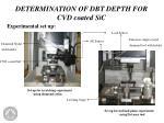 determination of dbt depth for cvd coated sic