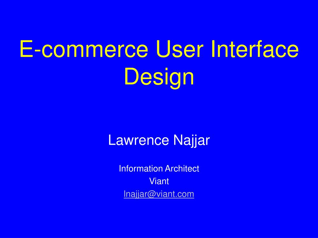 e commerce user interface design l.
