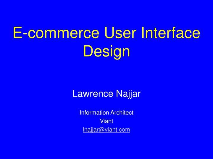 e commerce user interface design n.