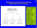 monotheistic vedic hindu trinity describes manifestations of the one source