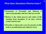 what does sanaatana dharma mean