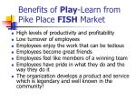 benefits of play learn from pike place fish market