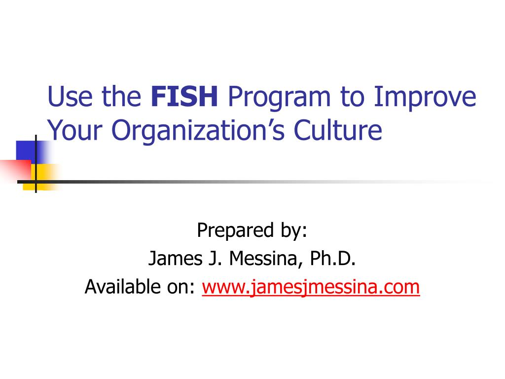 use the fish program to improve your organization s culture l.