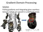 gradient domain processing31