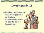 investigaci n ii