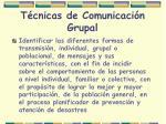 t cnicas de comunicaci n grupal