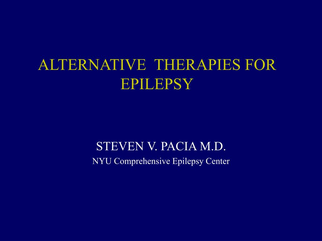 alternative therapies for epilepsy l.