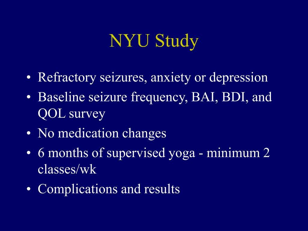 NYU Study