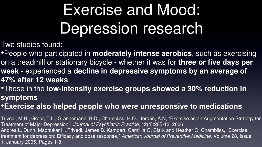 Exercise and Mood: