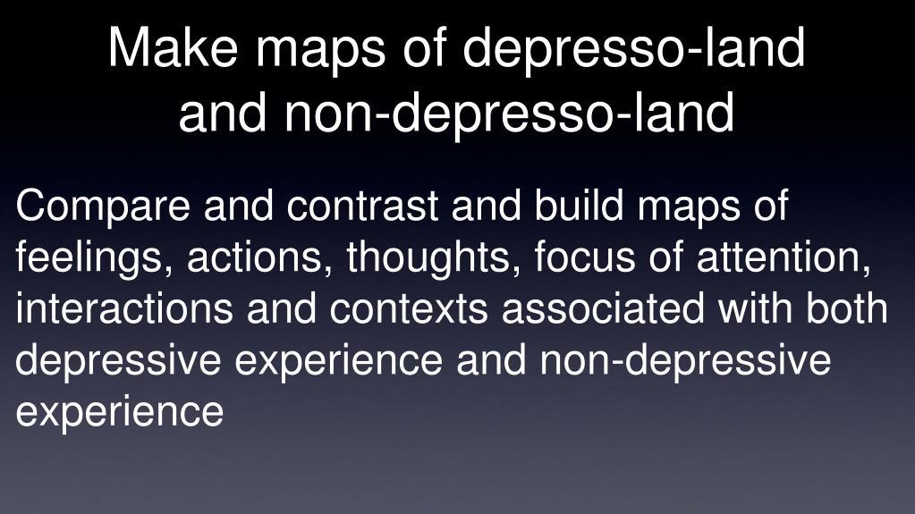 Make maps of depresso-land and non-depresso-land