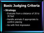 basic judging criteria11