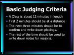 basic judging criteria12