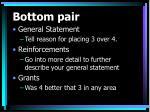 bottom pair