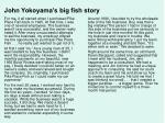 john yokoyama s big fish story