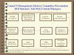 connect management advisory committee presentation dcf intranet sub web content managers