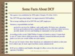 some facts about dcf
