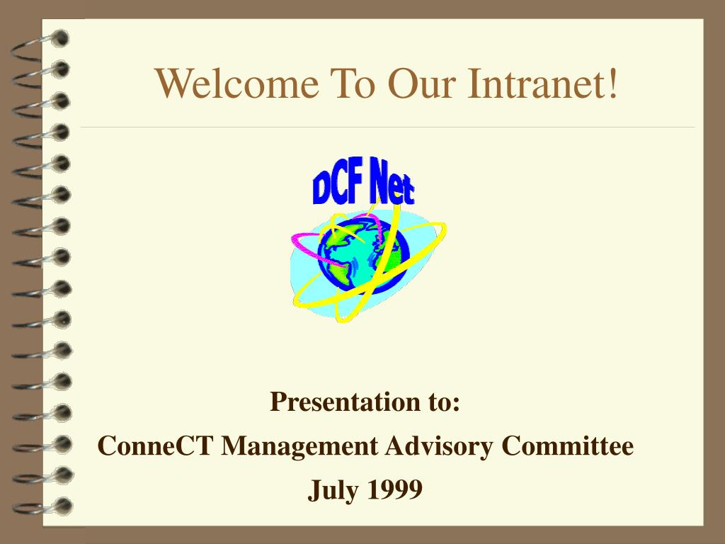 welcome to our intranet l.