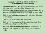 forestry research questions for the u s on wood energy carbon offsets