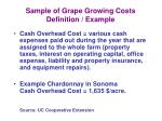 sample of grape growing costs definition example5