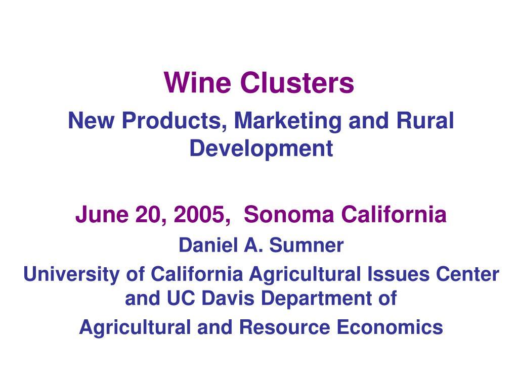 wine clusters l.