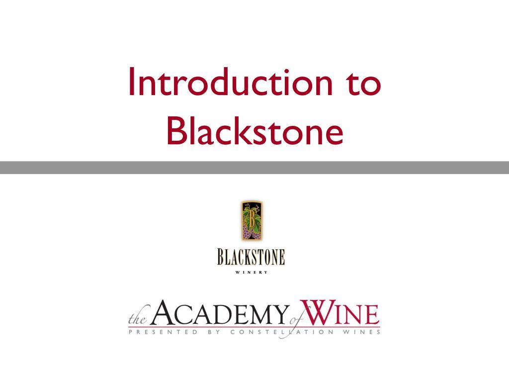 introduction to blackstone l.