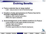 evolving benefits
