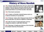 history of novo nordisk