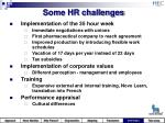 some hr challenges