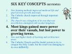 six key concepts reviewed