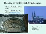 the age of faith high middle ages