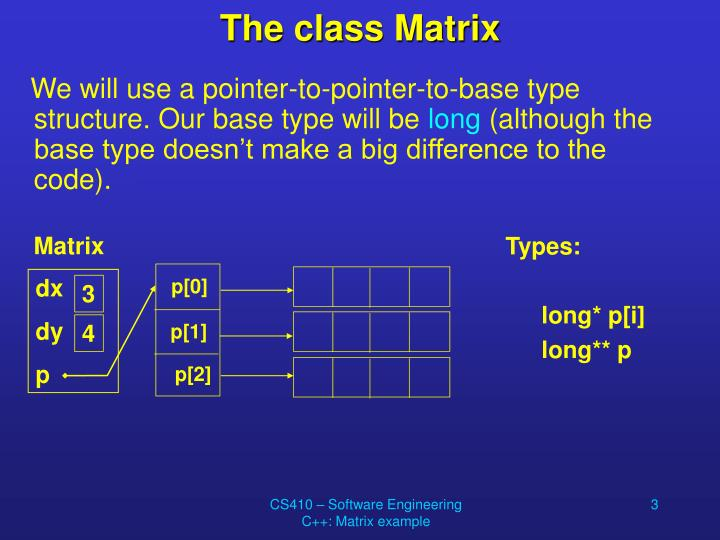 The class matrix
