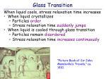 glass transition