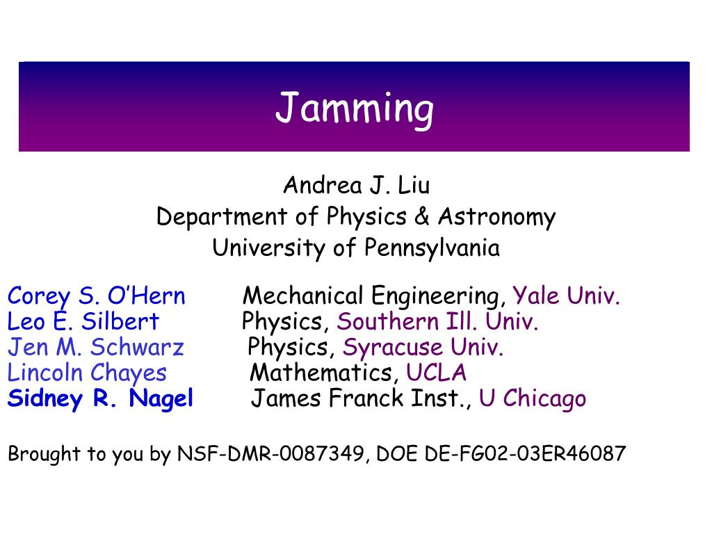 jamming l.