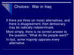 choices war in iraq19