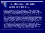 h l mencken on why voting is indirect