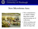 new microforms area