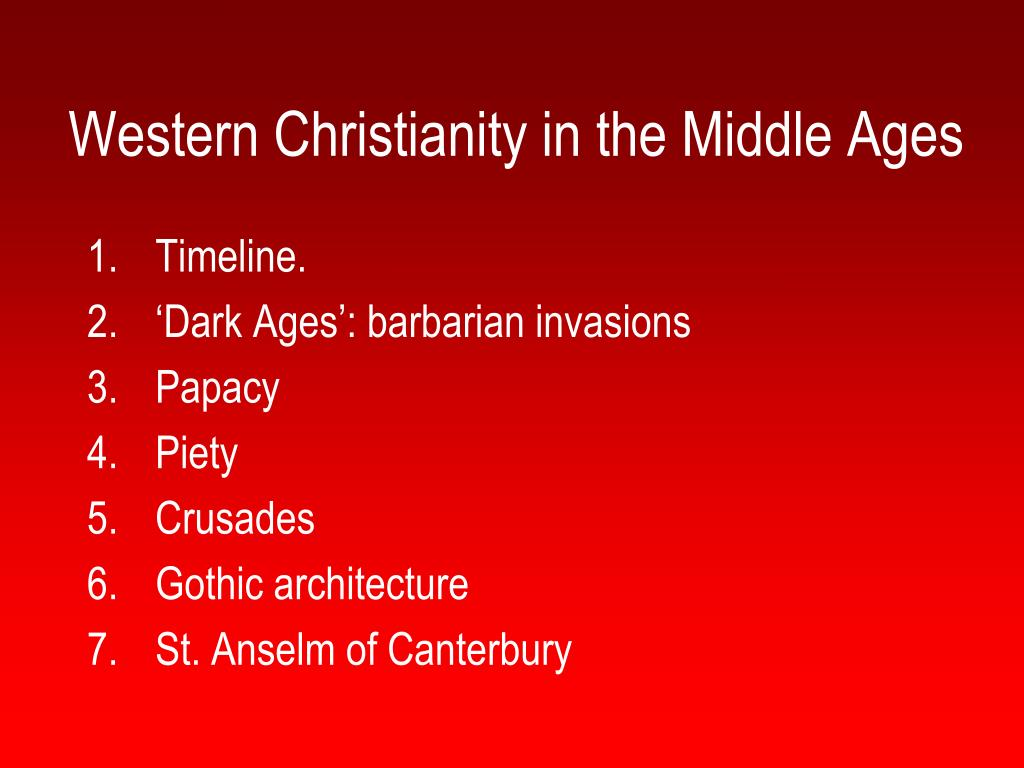 western christianity in the middle ages l.