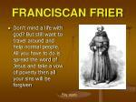 franciscan frier
