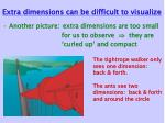 extra dimensions can be difficult to visualize30