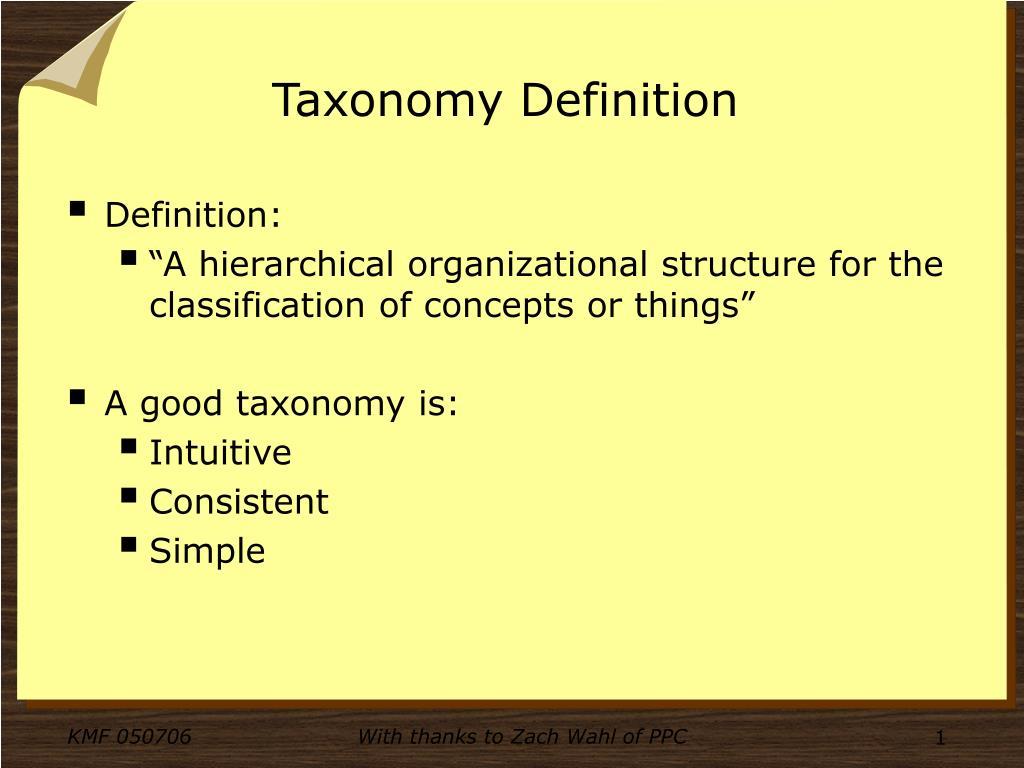 taxonomy definition l.