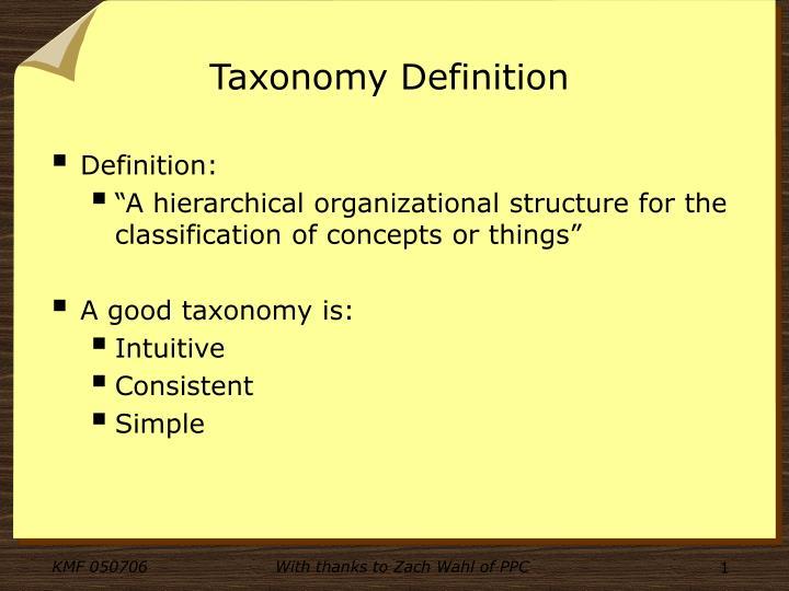 taxonomy definition n.