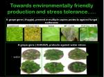 towards environmentally friendly production and stress tolerance