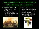 understanding the specifics about vitis will clarify many misconceptions