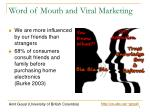 word of mouth and viral marketing
